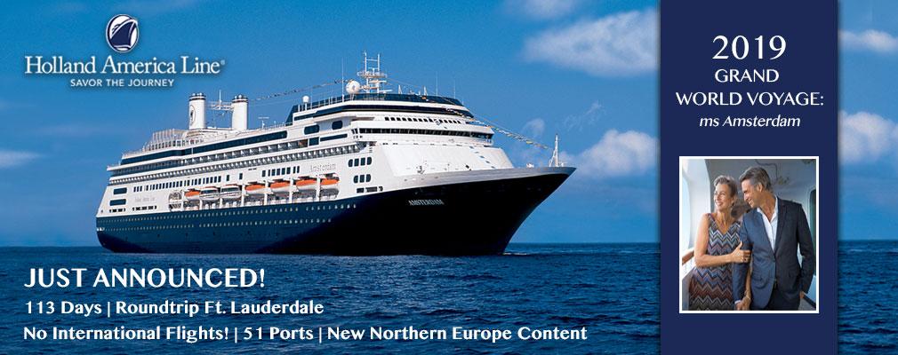 2019 Holland America Line World Cruise Cruise Amp Travel