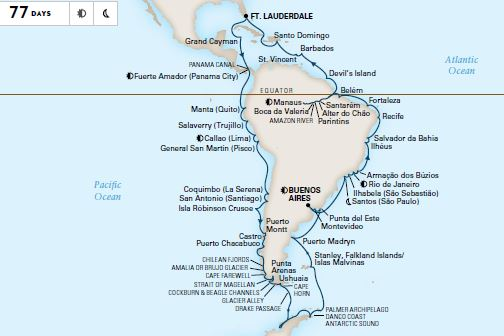 Holland America Line Grand South America & Antarctica Voyage ... on lake maracaibo south america map, north america south america map, ecuador south america map, tropic of capricorn south america map, map south america map, northern south america map, central america south america map, lake titicaca south america map, atlantic ocean south america map, amazon rainforest south america map, south america language map, gran chaco south america map, caribbean south america map, axis south america map, south america falkland islands map, tierra del fuego south america map, strait of magellan south america map, tropic of cancer south america map, antarctic circle south america map, dominican republic south america map,