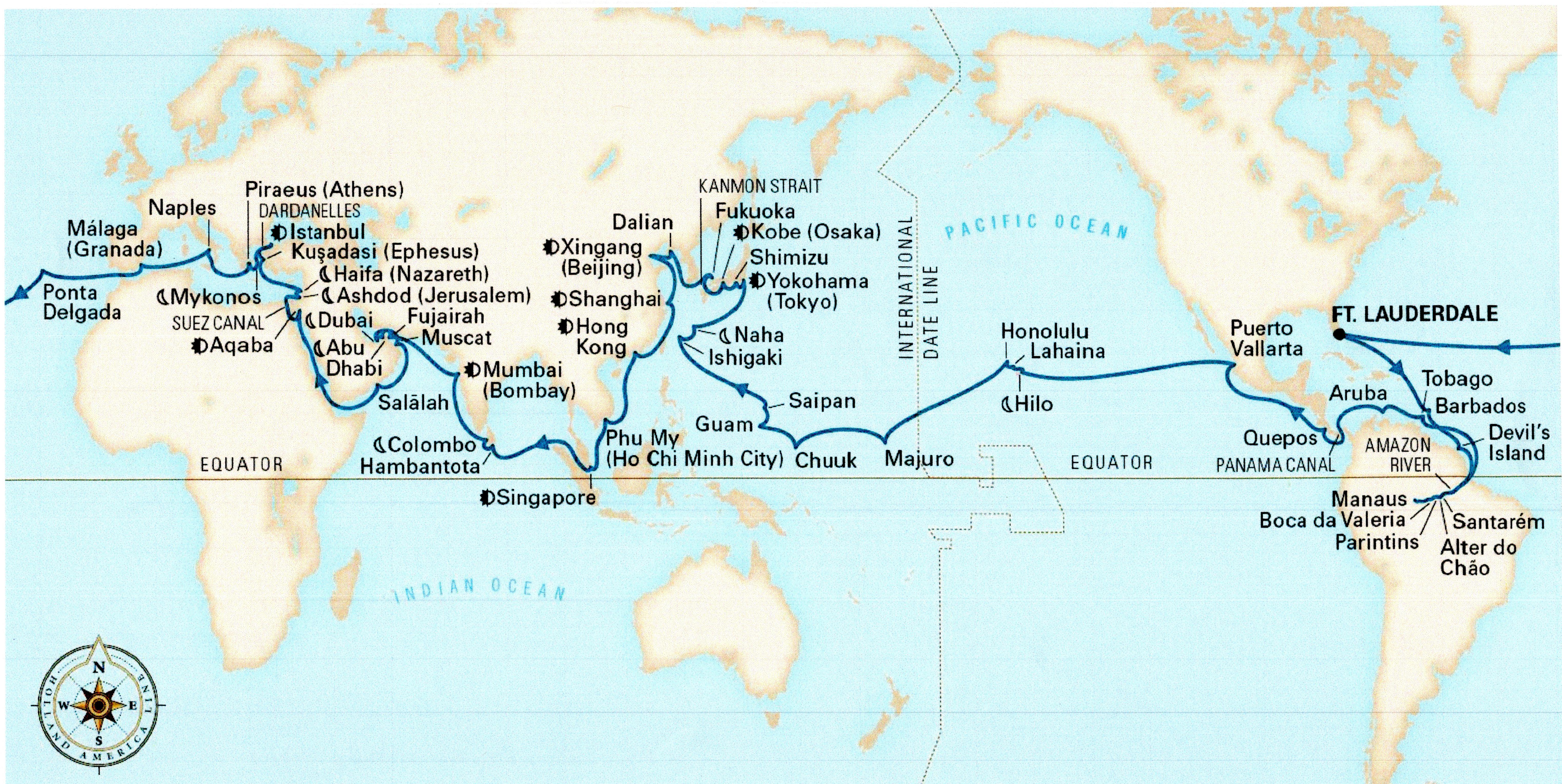 Holland America Line 2021 Grand World Voyage – Cruise